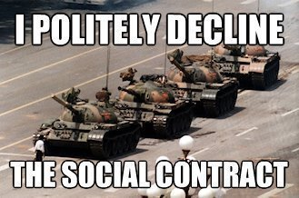 New Social Contract I Politely Decline the Social Contract