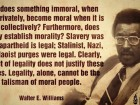 How Does Something Immoral, when Done Privately, Become Moral when It is Done Collectively?