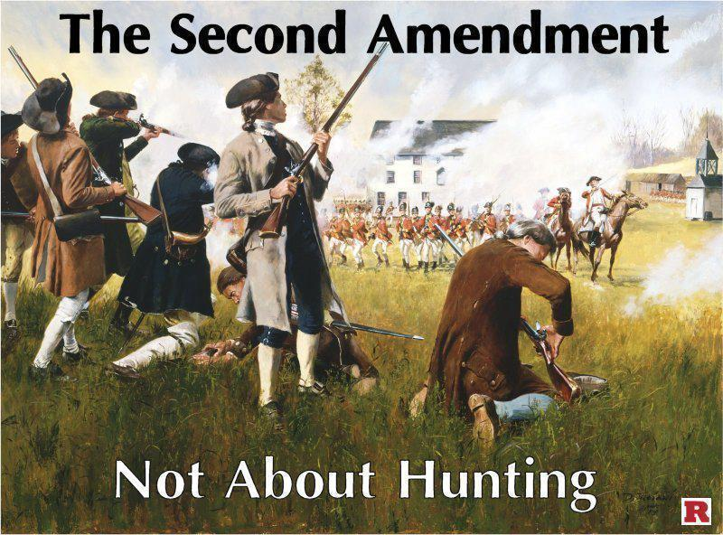 The second amendment is not about hunting political humor