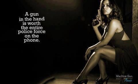 a gun in the hand is worth the entire police force on the phone 480x293 Home