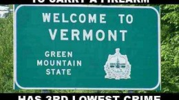 vermont does not require a permit to carry a firearm has third lowest crime rate in the nation 260x146 Home
