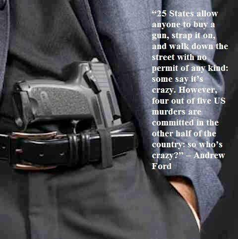 25 States Allow Anyone to Buy a Gun, Strap It On, and Walk Down the Street with No Permit of Any Kind