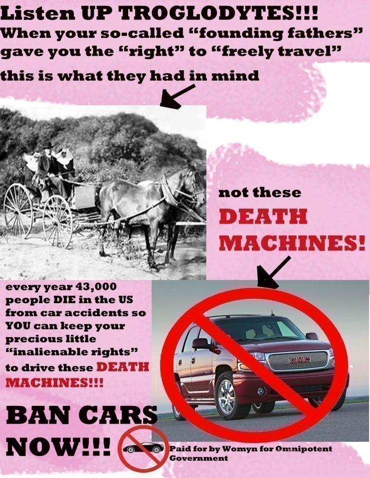 Ban Death Machines Now!