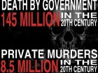 Death by Government and Private Murders in the 20th Century