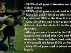 Statistics for Guns Usage