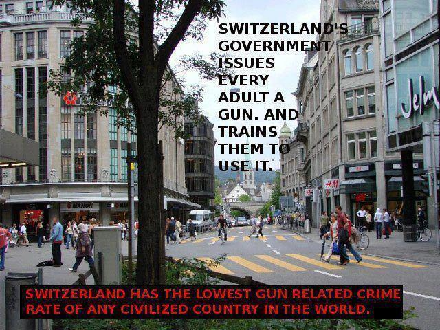 Switzerland Government Issues Every Adult a Gun and Trains Them to Use It