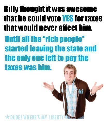 Billy Thought It Was Awesome That He Could Vote YES for Taxes That Would Never Affect Him.