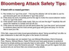Bloomberg Attack Safety Tips