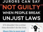 "Jurors Can Say ""Not Guilty"" when People Break Unjust Laws"