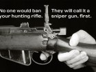 No One Would Ban Your Hunting Rifle.