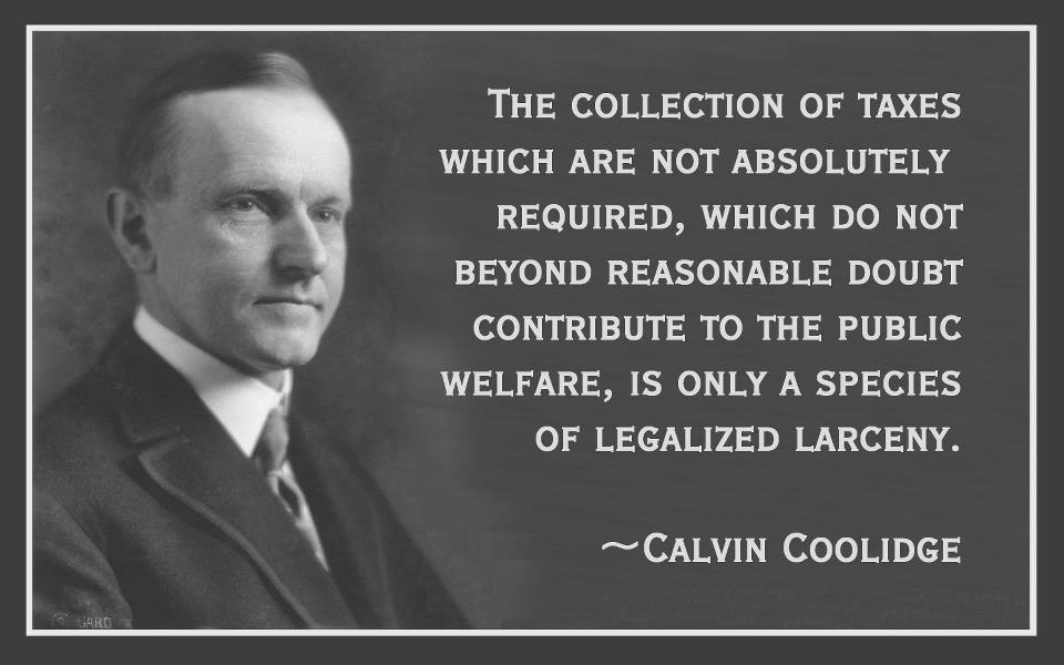 The Collection of Taxes Which Are Not Absolutely Required