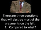 There Are Three Questions That Will Destroy Most of the Arguments on the Left.
