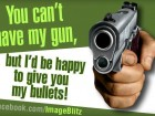 You Can't Have My Gun, but I'd Be Happy to Give You My Bullets!