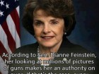 According to Sen. Dianne Feinstein, Her Looking at Millions of Pictures of Guns Makes Her an Authority on Guns.