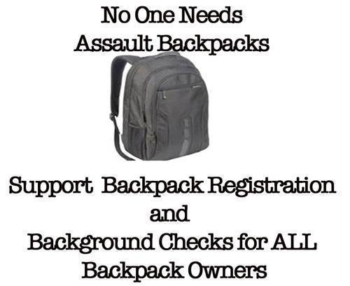 No One Needs Assault Backpacks