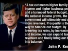 A Tax Cut Means Higher Family Income and Higher Business Profits and a Balanced Federal Budget...