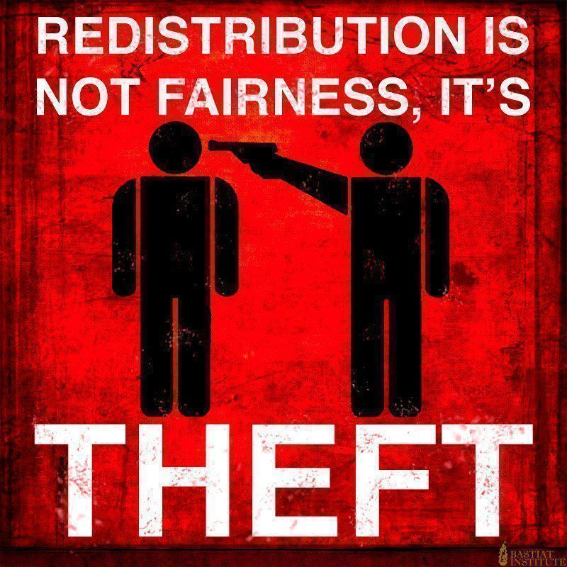 Redistribution is No Fairness, It's Theft
