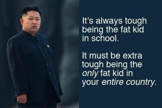 It's always tough being the fat kid in school