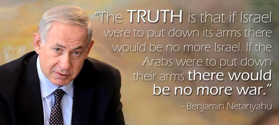 if-the-arabs-were-to-put-down-their-arms-there-would-be-no-more-war