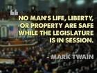 The Legislature Is in Session