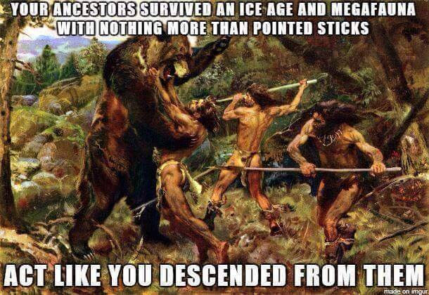 your-ancestors-survived-an-ice-age-and-megafauna-with-nothing-more-than-pointed-sticks