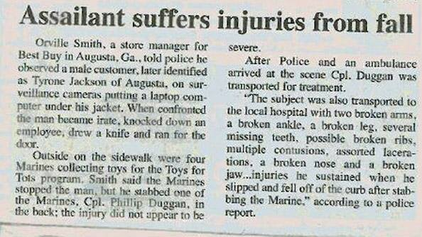 assailant-suffers-injuries-from-fall